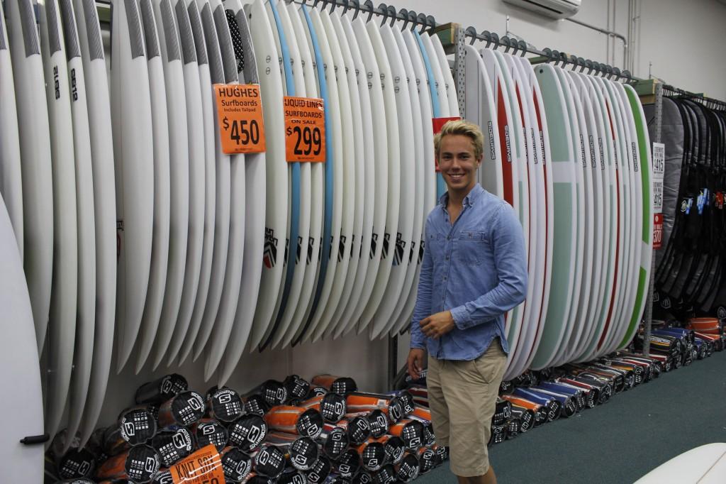 Mye å velge i! Her fra en annen surfebutikk.
